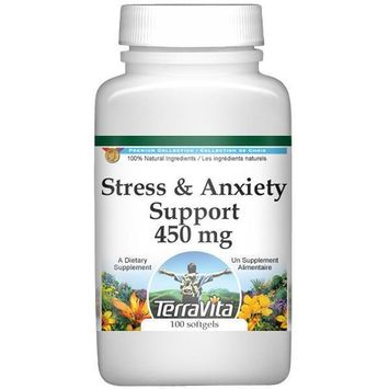 Stress and Anxiety Support - Valerian, Passion Flower and Hops - 450 mg (100 capsules, ZIN: 518244)
