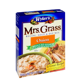 Wyler's Mrs. Grass Reduced Sodium Onion Recipe, Soup & Dip Mix