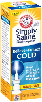 ARM & HAMMER™ Simply Saline™ Relieve + Protect Cold Nasal Pump Mist
