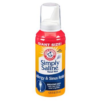 ARM & HAMMER™ Simply Saline Nasal Relief Mist Spray- Giant Size