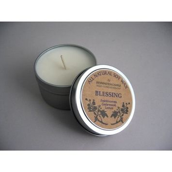 Bennington All Natural Soy Wax Candle (Blessing) - Frankincense, Cedarwood, Lemon