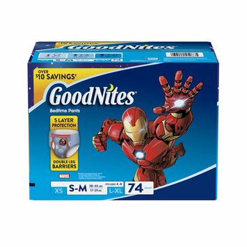 GoodNites Bedtime Bedwetting Underwear for Boys, Size S/M, 74 ct. (diapers - Wholesale Price
