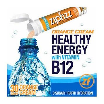 Zipfizz Healthy Energy Drink Mix, 30 Tubes Orange Cream