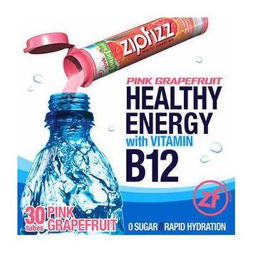 Zipfizz Healthy Energy Drink Mix, 30 Tubes Pink Grapefruit