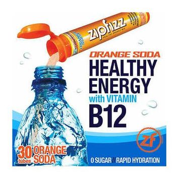 Zipfizz Healthy Energy Drink Mix, 30 Tubes Orange Soda