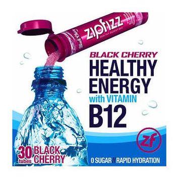 Zipfizz Healthy Energy Drink Mix, 30 Tubes Black Cherry