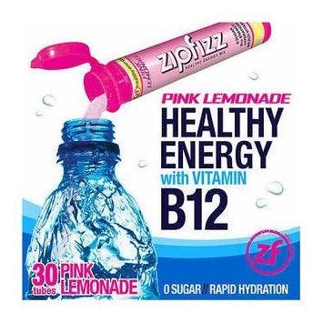 Zipfizz Healthy Energy Drink Mix, 30 Tubes Pink Lemonade