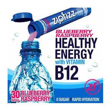 Zipfizz Healthy Energy Drink Mix, 30 Tubes Blueberry Raspberry