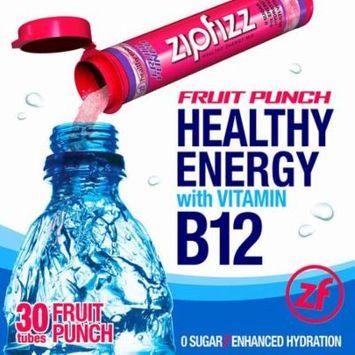 Zipfizz Healthy Energy Drink Mix, 30 Tubes Fruit Punch Flavor