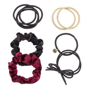Mudd® Velvet Scrunchy & Hair Tie Set, Women's, Multicolor
