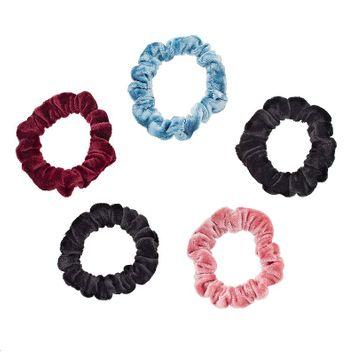 Mudd® 5-pk. Velvet Scrunchies, Women's, Multicolor