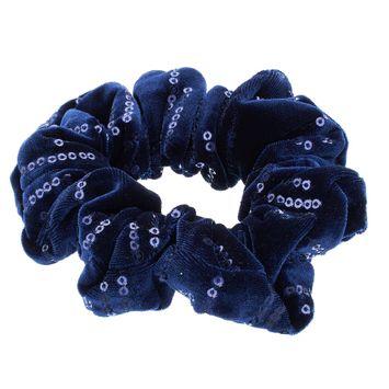 Mudd® Sequined Scrunchie Hair Tie, Women's, Blue (Navy)