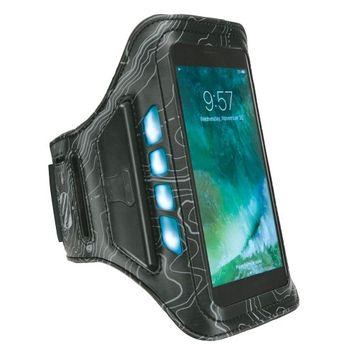 Scosche LitFit Smartphone Armband with Safety LEDs Black