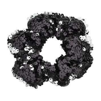Mudd® Sequined Scrunchie Hair Tie, Women's, Black