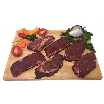 Bison Steaks Combo Pack: 100% All-Natural, Grass-Fed and Grain Finished North American Buffalo Meat with no Growth Hormones or Antibiotics - USDA Tested - Count 6 of Tender, Flavorful Meat