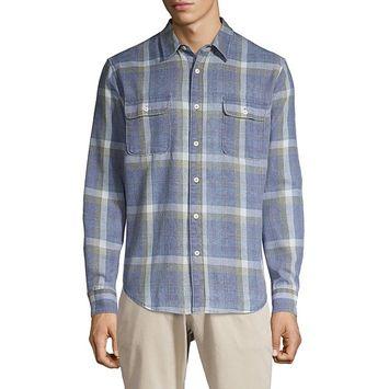 Lucky Brand - Plaid Utility Shirt [name: actual_color value: actual_color-blueplaid]