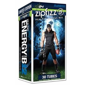 Zipfizz Healthy Energy Drink Mix, Limited Edition Marshawn Lynch Blueberry Raspberry, 11g Single serving tubes - 30 Count