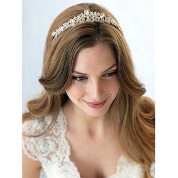 USABride Swarovski Crystal & Rhinestone Bridal Tiara Crown for Weddings 3008
