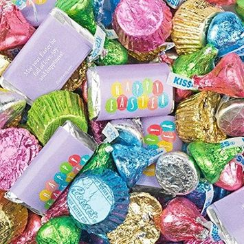Easter Candy Mix Hershey's Miniatures, Kisses and Reese's Peanut Butter Cups (3lb Bag)