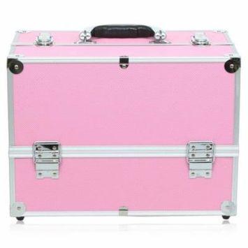 Essential Pro Makeup Train Case with Shoulder Strap Locked Keys Handle Home Outdoors Makeup Kit DEYAD