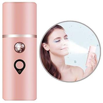 Nano Facial Mister Portable Mini Face Mist Handy Sprayer Atomization Moisturizing and Hydrating Cool Facial Steamer Beauty Skin Care Instrument
