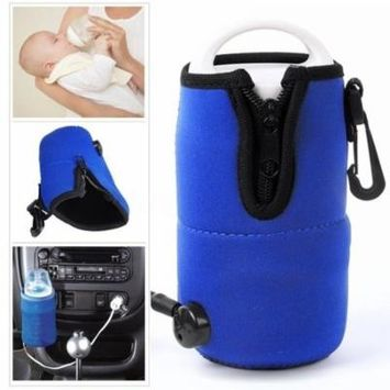 12V Portable DC Car Baby Bottle Warmer Baby Food Milk Heater With Baby Bottle Warmer Bag