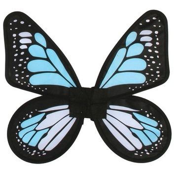 Adult Blue Satin Butterfly Wings - 788069