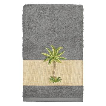 Linum Home Textiles Colton Embellished Turkish Cotton Hand Towel [number_of_pieces: number_of_pieces-4piece]