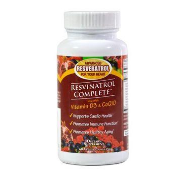 Effihealth Consumer Products Resvinatrol Complete 60 Count Veggie Capsules-Advanced Resveratrol Dietary Supplement