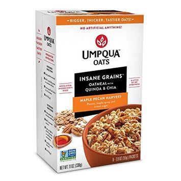 Umpqua Oats Insane Grains Maple Pecan Harvest 3 Cartons (18 Pouches)