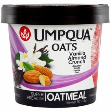 Umpqua Oats Vanilla Almond Crunch Super Premium Oatmeal 2.65 Ounce 12 Count
