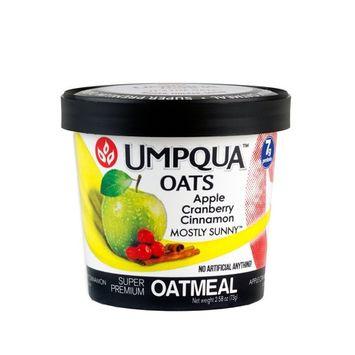 Umpqua Oats All Natural Oatmeal Cups, Apple Cranberry Cinnamon, 2.58 Ounce (Pack of 6)