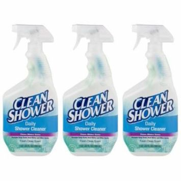(3 Pack) Clean Shower Fresh Clean Scent Daily Shower Cleaner, 1 qt