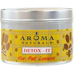 Detox-it Aromatherapy One 2.5X1.75 Inch Soy/Beeswax Blend Aromatherapy Candle For Pet Lovers. Rebalance Room Odors With Natural Beeswax, Sunflower, Soy & Rice Bran Wax. Burns Approx. 15 Hrs.