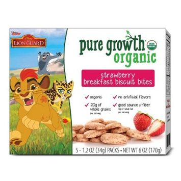 Pure Growth Organic Strawberry Breakfast Biscuit Bites - 6oz