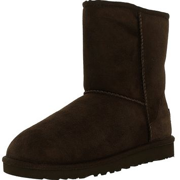 UGG - Ugg Girl's Classic K Chocolate Mid-Calf Wool Boot - 2M [name: shoe_size value: shoe_size-2m]