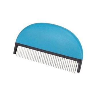 Master Grooming Tools 5-Inch Soft Grip Pet Comb with Rotating Pins, Medium