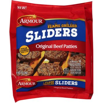 armour® flame grilled sliders original beef patties