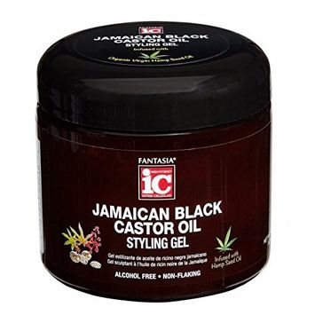 FANTASIA IC JAMAICAN BLACK CASTOR OIL STYLING GEL 16 OZ