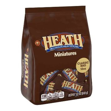 Heath Milk Chocolate English Toffee Bar Miniatures Classic Bag - 12oz