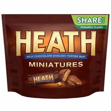 HEATH Chocolate Toffee Bars, Miniatures, 10.2 oz Bag