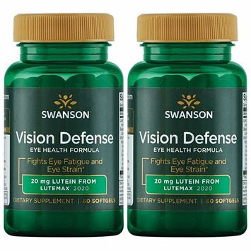 Swanson Vision Defense Antioxidant Vision Health Supplement Lutein Zeaxanthin Astaxanthin Broccoli Extract Bilberry Extract 60 Softgels Sgels [2]