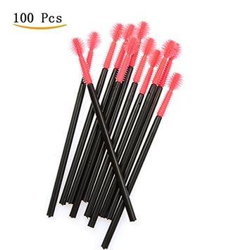 Le Fu Li Best Deal 100Pcs Disposable Silicone Eyelash Brushes Makeup Wands Mascara Wands Beauty Cosmetic Makeup Tools