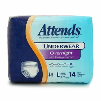 Attends Overnight Protective Underwear  - Large 44in - 58in