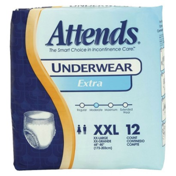 Attends Extra Absorbency Protective Underwear - XX-Large (Case of 48)