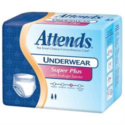 Attends Super Plus Absorbency Protective Underwear with Leakage
