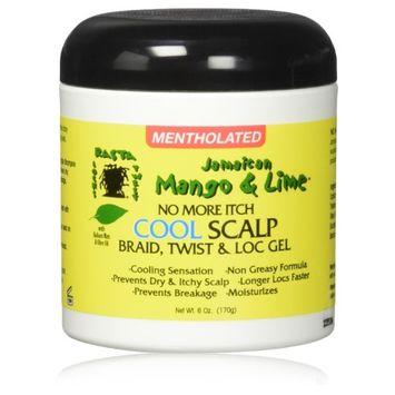 Jamaican Mango & Lime No More Itch Cool Scalp Braid, Twist & Loc Gel 6oz