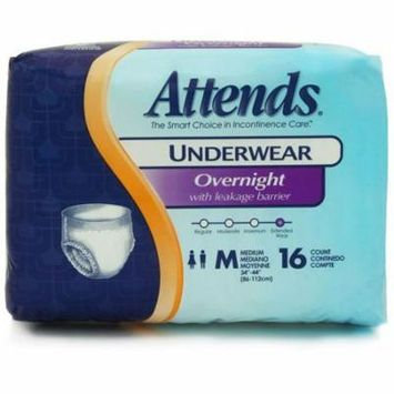 Attends Overnight Protective Underwear Medium, 34 - 44 , Case of 64 - 10 Pack