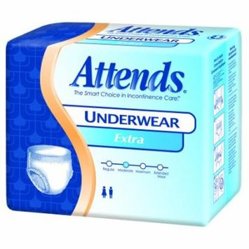 Attends Unisex Regular Absorbency Value Tier Protective Underwear X-Large 58'' - 68'' Bag of 14