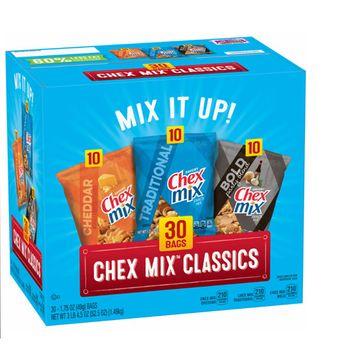 Chex Mix Classics Snack Mix, 30 ct.
